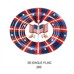 Flag & Eagle Spinner Lg