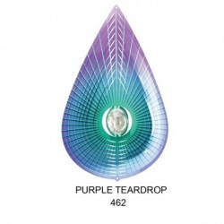 Teardrop Crystal Purple Lg